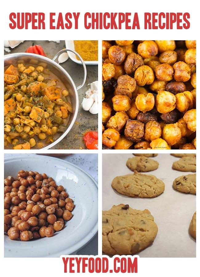 Super EASY Chickpea Recipes