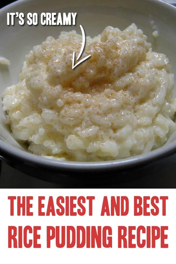Super Easy Rice Pudding Recipe