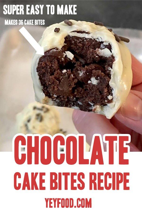 Chocolate Cake Bites Recipe