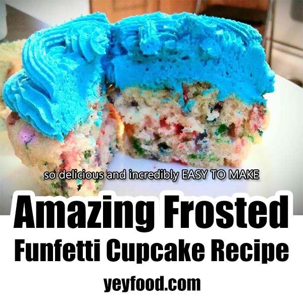 Amazing Frosted Funfetti Cupcake Recipe