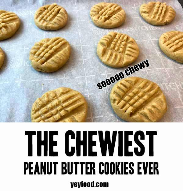 Chewy Peanut Butter Cookie