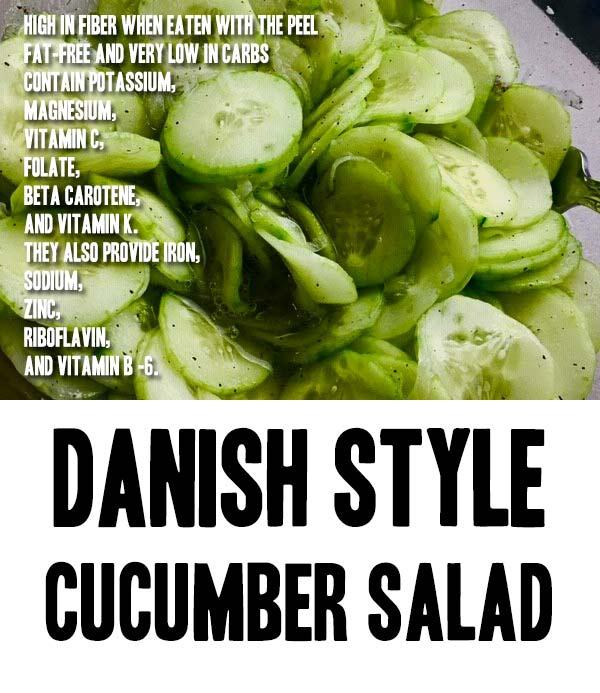Danish Style Cucumber Salad Recipe