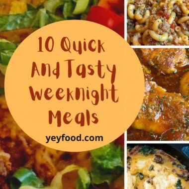10 quick and easy weeknight recipes