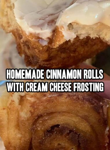 Homemade Cinnamon Rolls With Cream Cheese Frosting