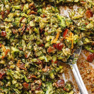 Garlic Bacon Broccoli Skillet