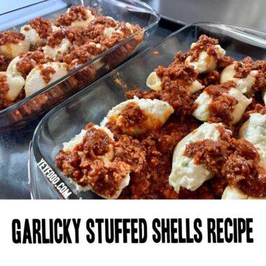 Garlicky Stuffed Shells Recipe