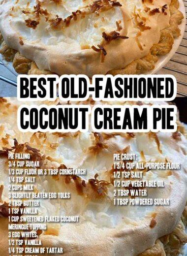 Best Old-Fashioned Coconut Cream Pie