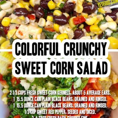 Colorful Crunchy Sweet Corn Salad