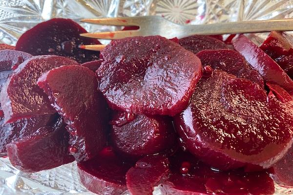 pickled beets in dish