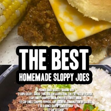Homemade Sloppy Joes look like this picture. You need this old recipe because it's still the best one ever.