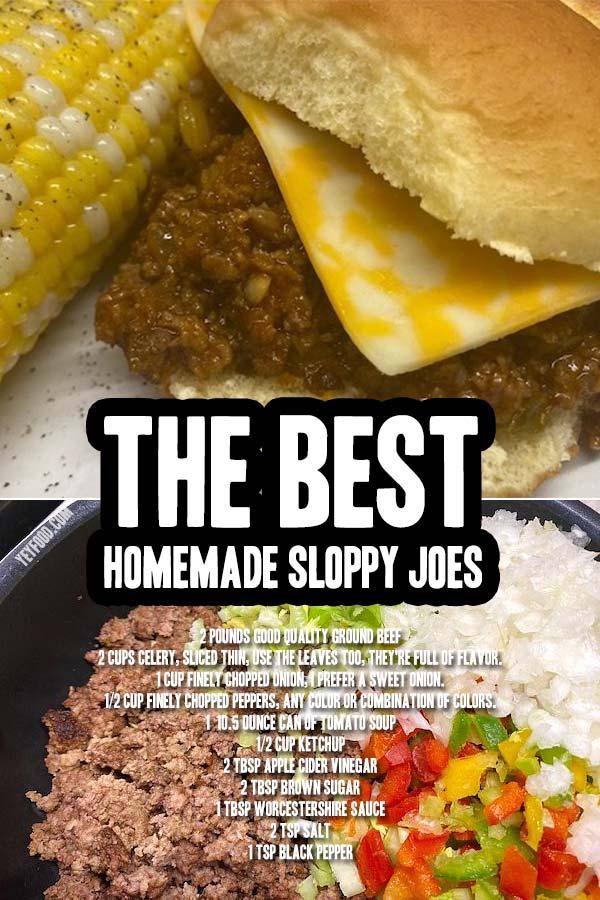 Homemade Sloppy Joes