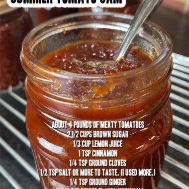 Easy Slow Cooker Summer Tomato Jam
