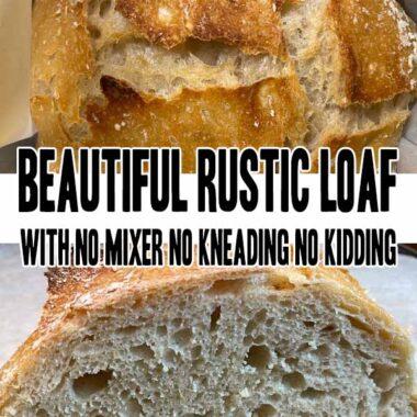 Beautiful Rustic Loaf With No Mixer No Kneading No Kidding
