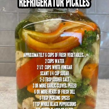 """How To Make Easy """"Anything Goes"""" Refrigerator Pickles"""