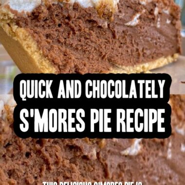 Quick And Chocolately S'mores Pie Recipe