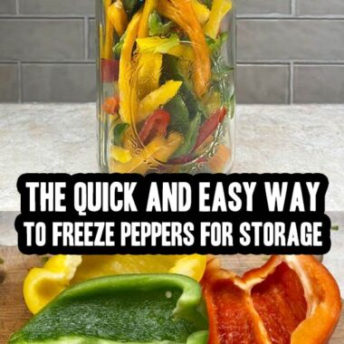 The quick and easy way to freeze peppers for storage