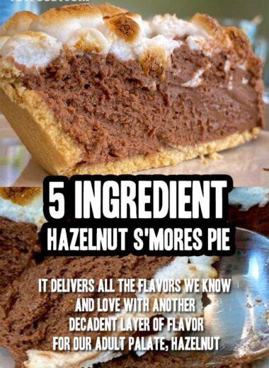 Creamy 5 Ingredient Hazelnut S'mores Pie Recipe